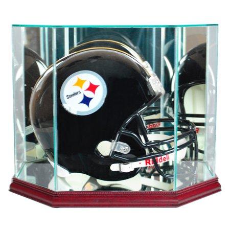 Football Helmet Display Case (Perfect Cases Octagon Full-Size Football Helmet Display Case, Cherry Finish )