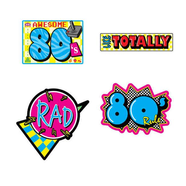 Beistle 54340 Awesome 80's Cutouts - Pack of 12