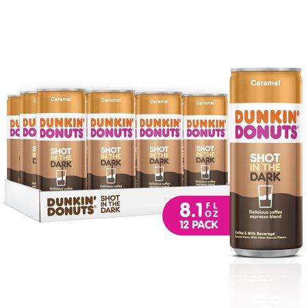 Dunkin' Donuts Shot in the Dark Caramel Cans, 8.1 fl oz, 12