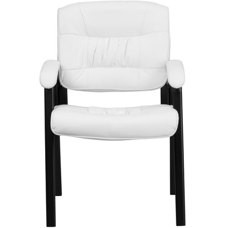Flash Furniture Leather Guest/Reception Waiting Room Chair with Black Frame Finish (Vinyl Swivel Guest Chair)