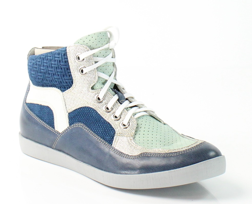 Think! New Blue Seas Size 7M Fashion Sneakers Leather Shoes by Think!