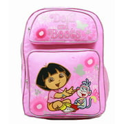 Backpack - Dora the Explorer - Laughing w/Boots Flowers (Large Bag) New 37680