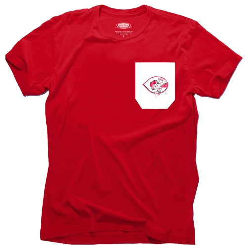 Cincinnati Reds Majestic Threads Contrast Color Pocket T-Shirt - Red