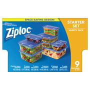 Ziploc Containers Variety Pack,  Walmart Exclusive, 9 ct