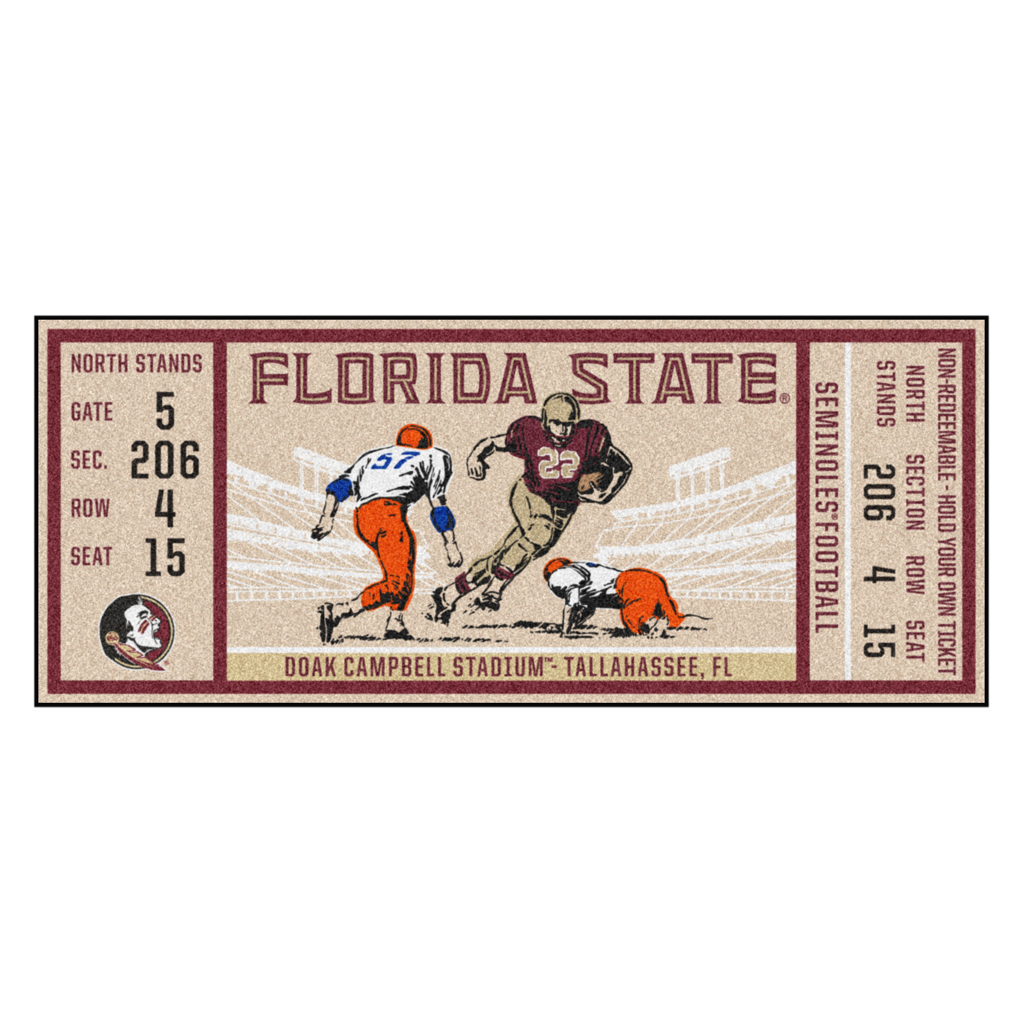 "Florida State University Ticket Runner 30""x72"""
