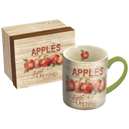 August Grove Abancourt Apple Orchard 14 Oz  Mug