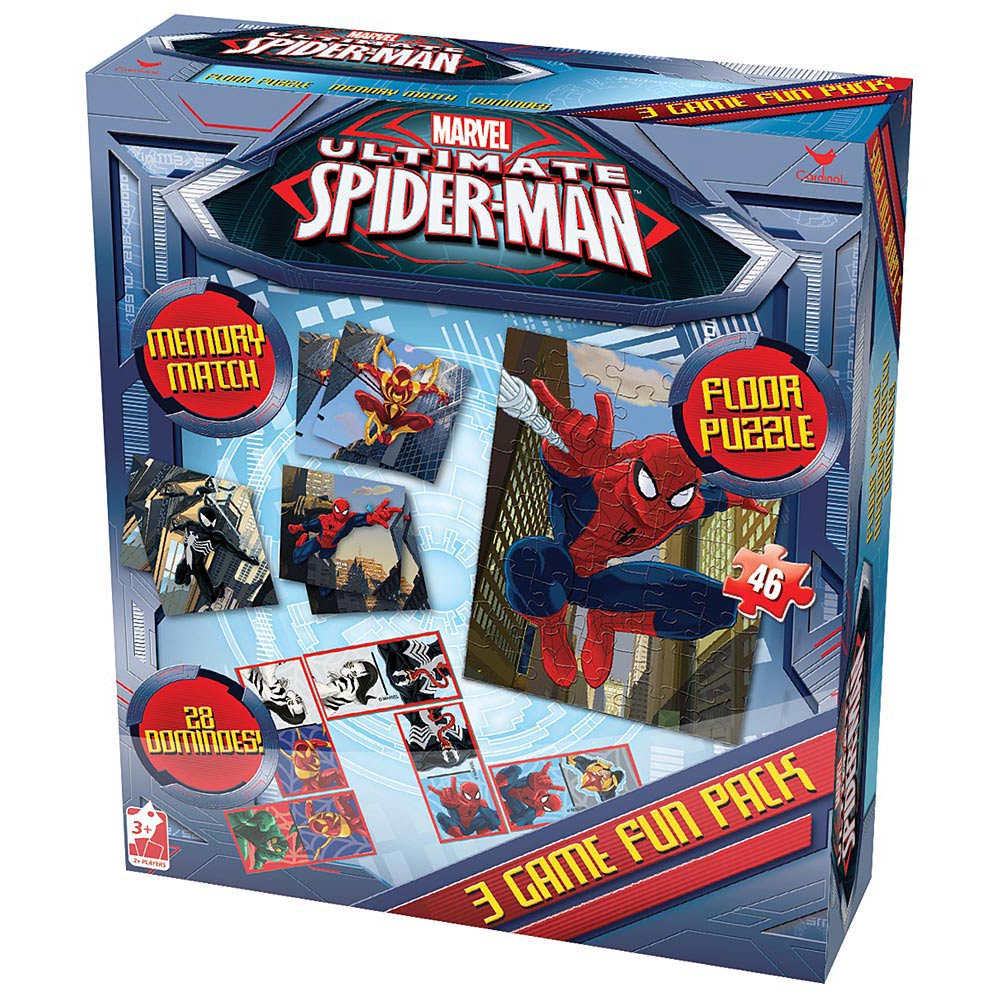 Spiderman Triple Game Pack,  Kids Games by Cardinal