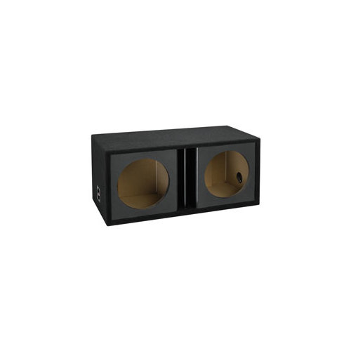 "Atrend ZV12D-BLACK 12"" Atrend Series Dual Vented Chambered Kandy Kolor Enclosure, Black"