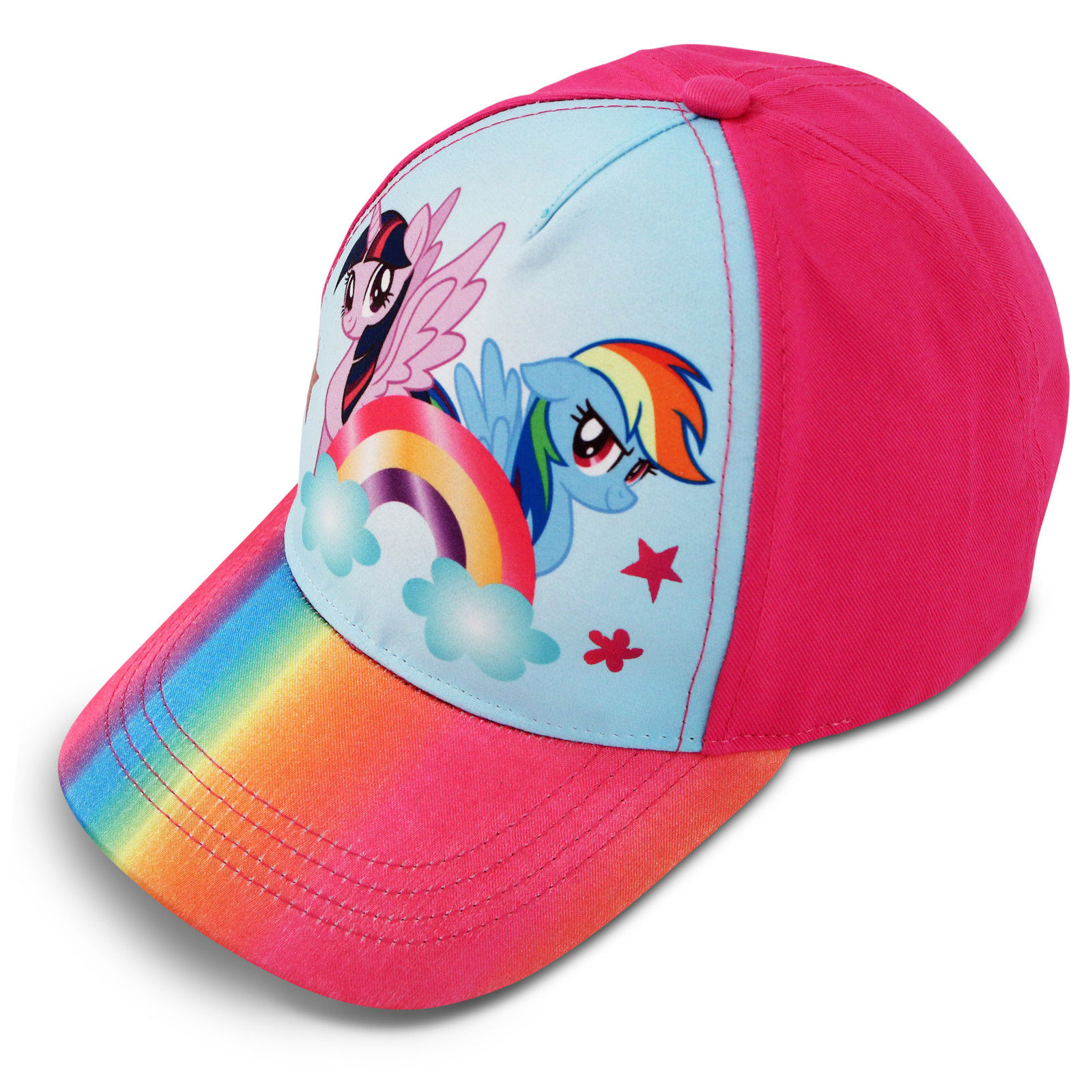 Hasbro My Little Pony Rainbow Dash Cotton Baseball Cap, Little Girls, Age 4-7