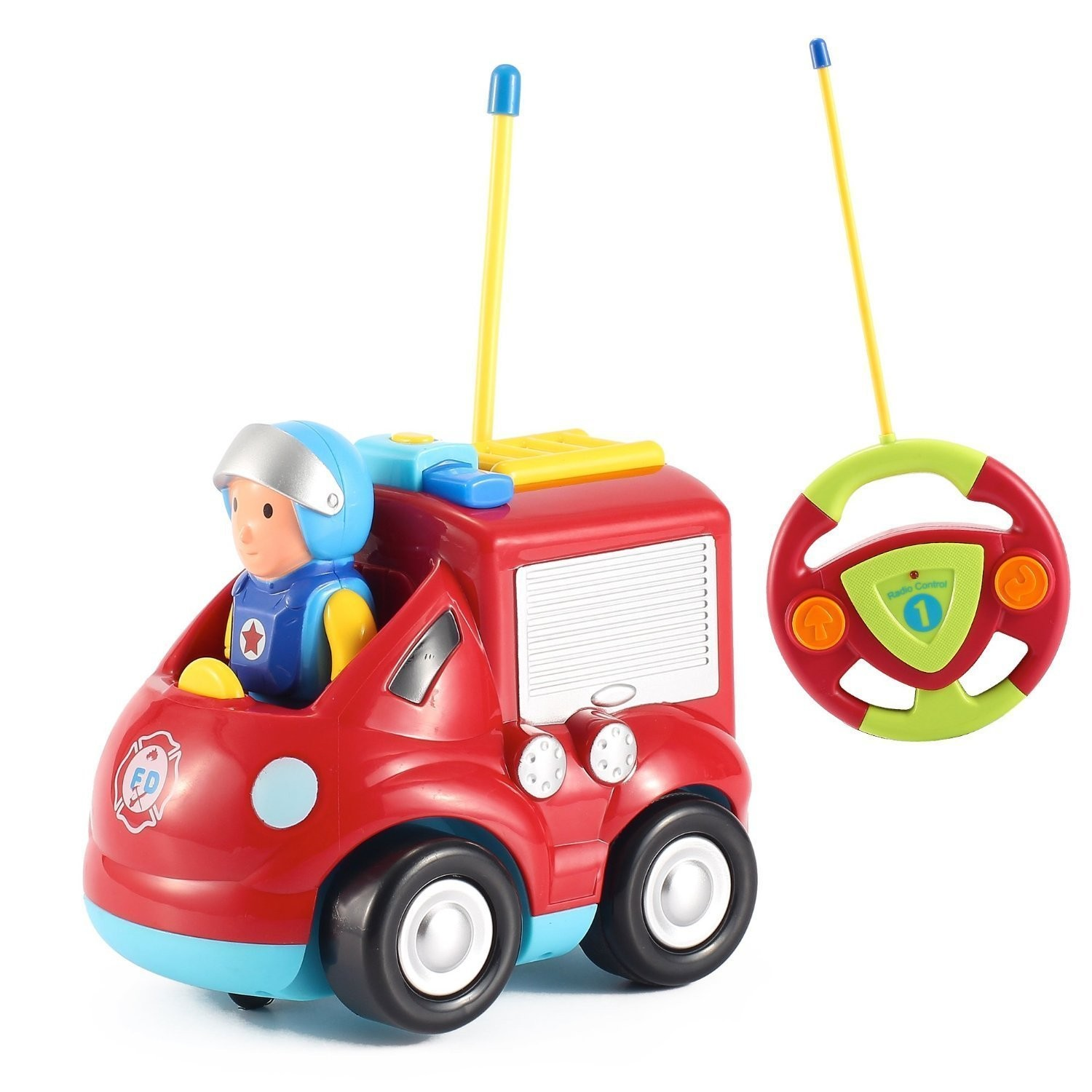 Cartoon R/C Fire Truck Car Radio Control Toy for Toddlers