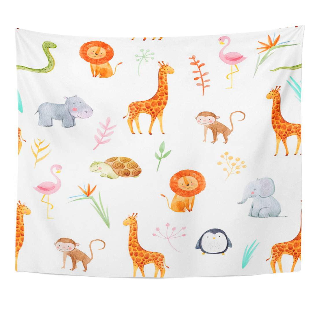 teal chevron monkey lion hippo zebra giraffe jungle animals kids bedroom door sign P2291 Kids Room Gift