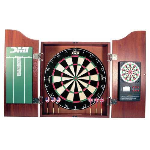 DMI Sports Bristle DartBoard with Solid Wood Cabinet by DMI Sports