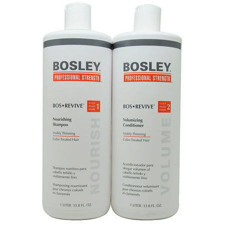 Bosley Bos Revive Shampoo & Conditioner 1 Liter Set for Color-Treated (Best Shampoo For Product Build Up)