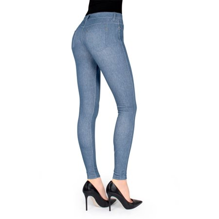 578c58bf6f5e8 MeMoi - MeMoi Unbottled Denim Jean Leggings | Women's Jeggings by MeMoi  Medium/Large / Light Wash MQ 003 - Walmart.com