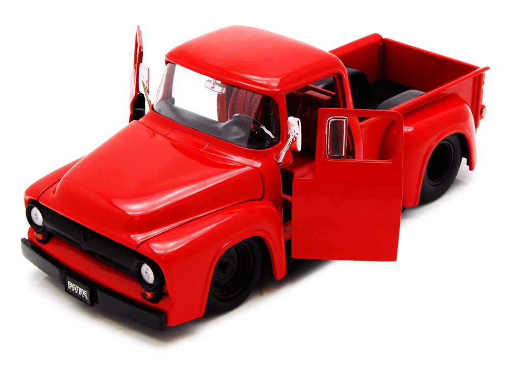 1956 Ford F-100 Pickup Truck, Red Jada Toys Bigtime Muscle 90487 1 24 scale Diecast Model... by Jada