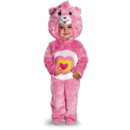 Childs Deluxe Care Bears Wonderheart Bear Plush Costume Toddler 3T-4T](Mens Care Bear Costume)