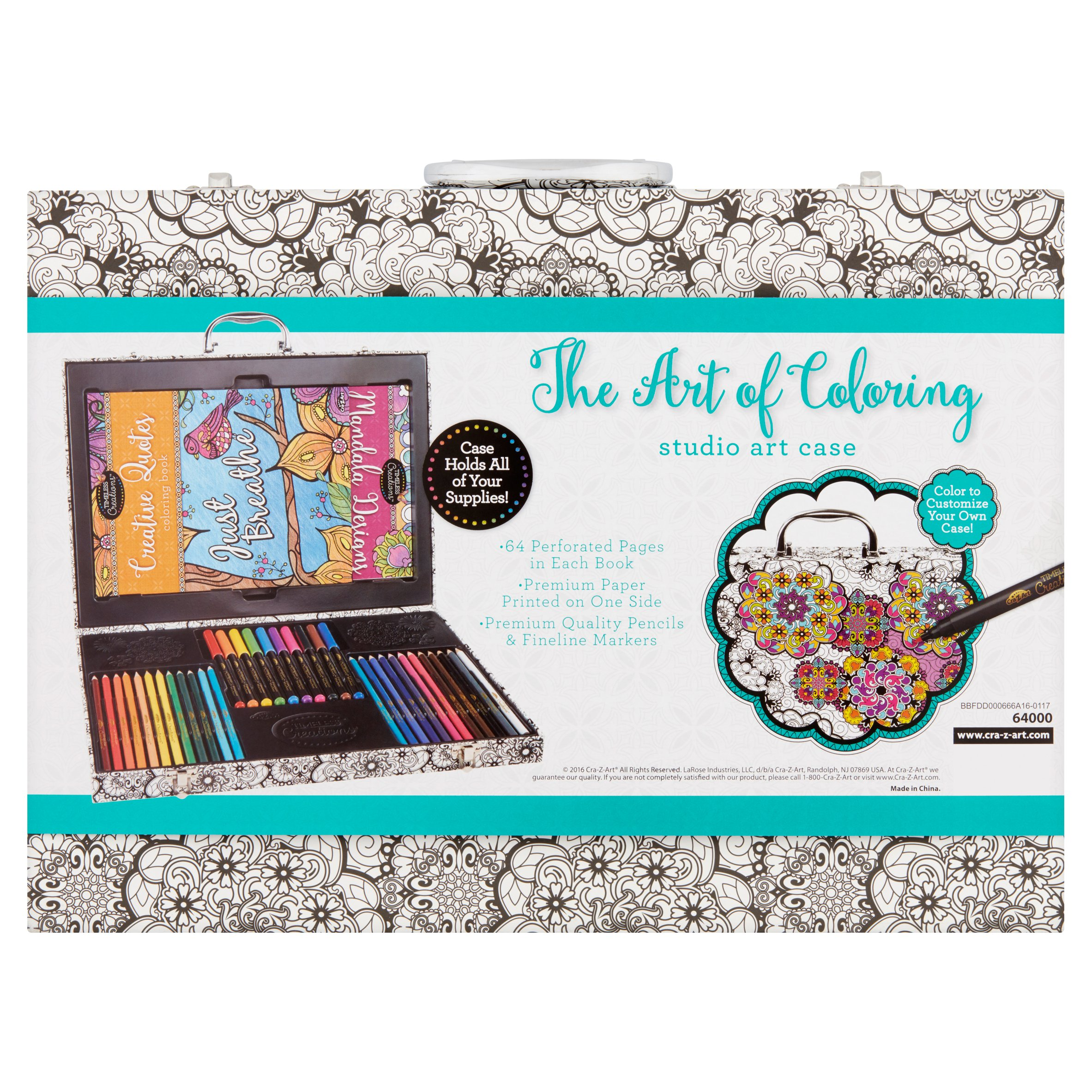 Cra-Z-Art Timeless Creations Art Of Coloring Adult Coloring Case ...