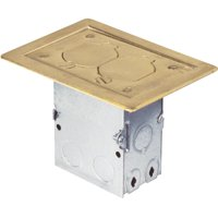 Thomas & Betts Brass Floor Outlet Kit 71WDS