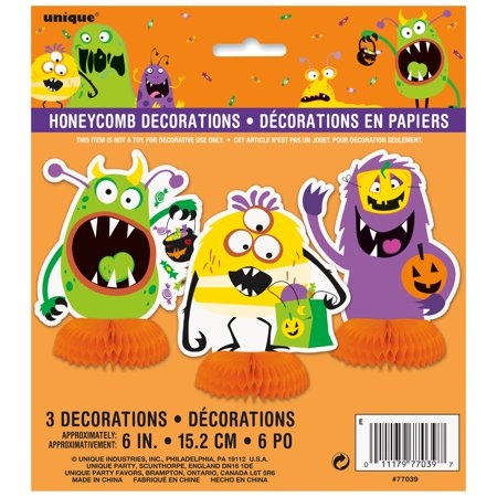 Silly Monsters Halloween Centerpiece Decorations, 6 in, 3ct (Halloween Centerpieces Pinterest)