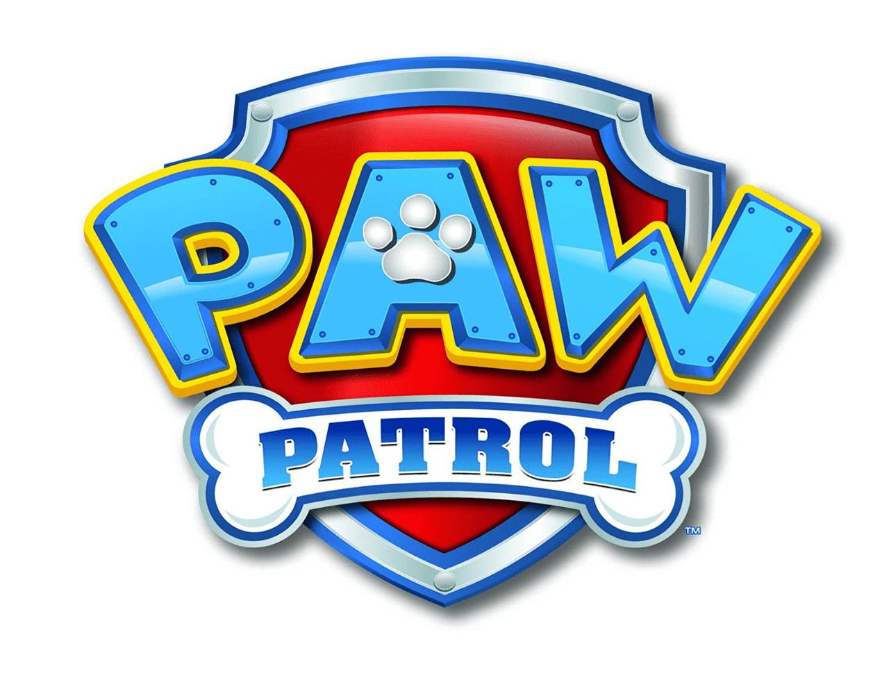 paw patrol logo 1 4 sheet edible birthday cake topper