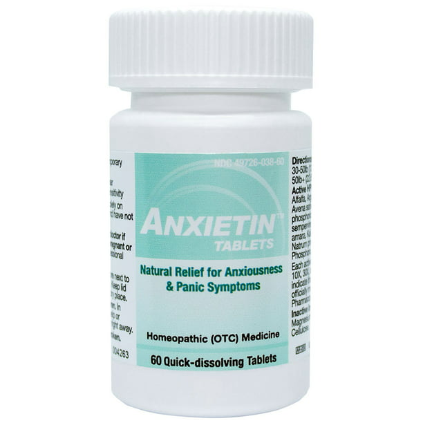 HelloLife Anxietin  Tablets - Anxiousness & Panic Symptom Relief - FOR THE SAFE, TEMPORARY RELIEF OF: Episodes of Fearfulness + Nervousness + Worry + Hypersensitivity + Social Fear + Panic