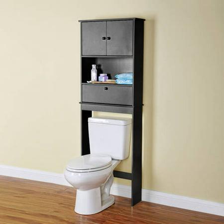 mainstays bathroom black space saver. Black Bedroom Furniture Sets. Home Design Ideas