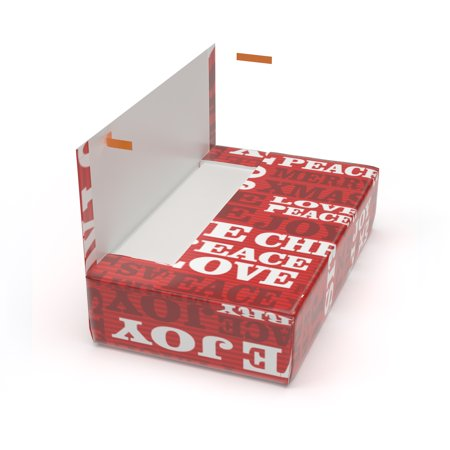 Cloaked Box — All-in-One, Just Peel & Stick Gift Box - Merry Xmas (Large) ()