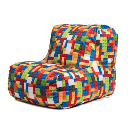 Strange Toy Blocks Print Bean Bag Lounge Chair Alphanode Cool Chair Designs And Ideas Alphanodeonline