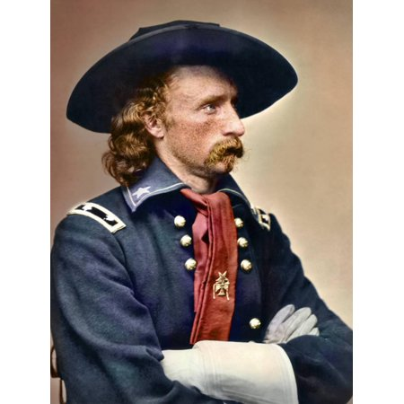 Civil War Portrait of General George Armstrong Custer Print Wall Art By Stocktrek Images