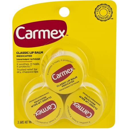 Cranberry Caramel - Carmex Lip Balm-Original Flavor 0.25 oz Jar (3 count)