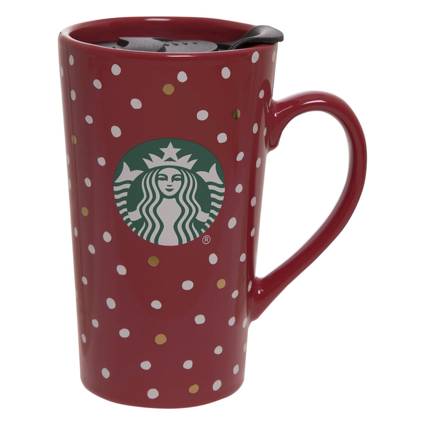 Starbucks 14oz Ceramic Latte Mug Dots