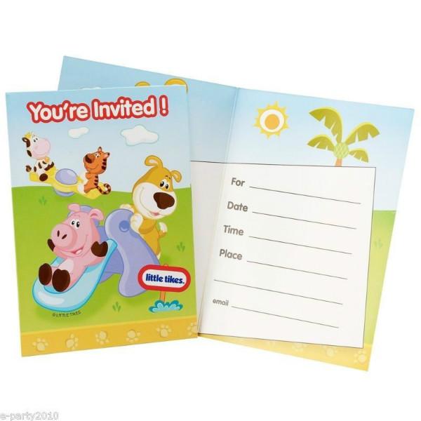 Little Tikes Invitations w/ Envelopes (8ct)