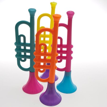 Colorful Plastic Toy Trumpet Noisemaker - New Year Noisemakers