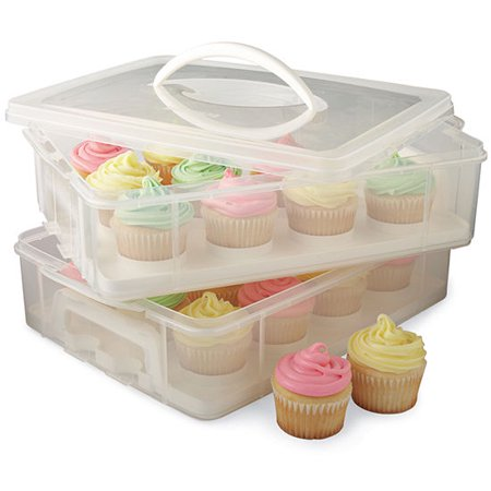 Cupcake Storage Carrier Container Holds 24 Cupcakes or Muffins Great for Parties](36 Cupcake Carrier)