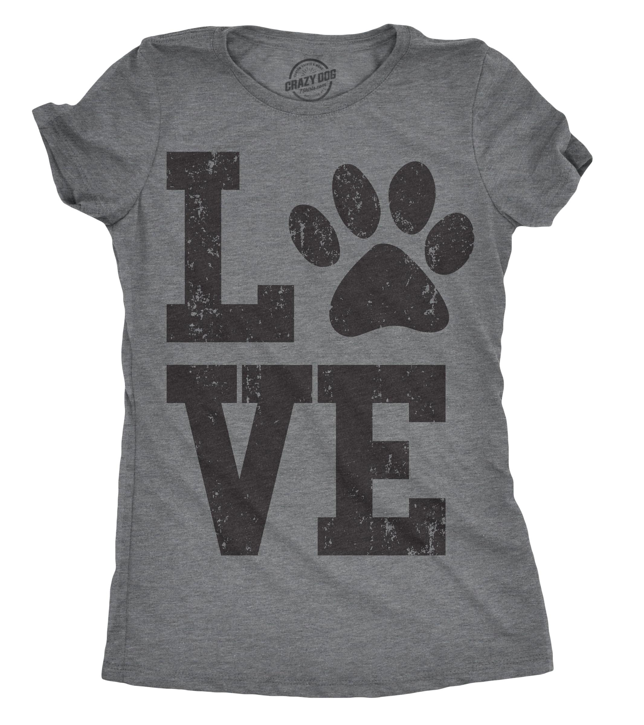 Dog Mom Shirt Women Funny Dog Paw Cute Printed Tee Shirt Tank Tops Blouse