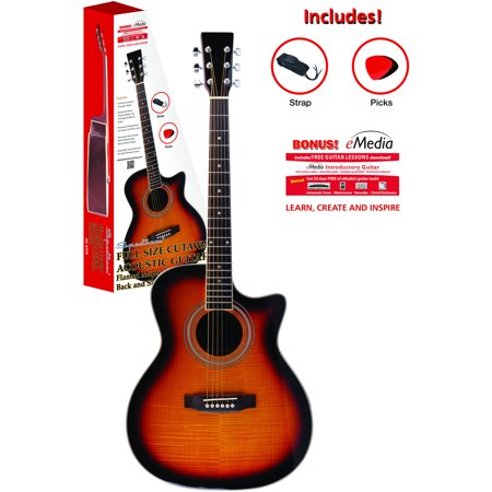 Spectrum AIL 41FM Full Size Cutaway Natural Flamed Maple Acoustic Guitar