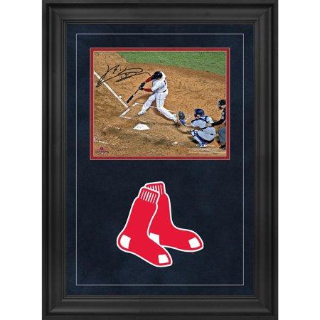 Autographed 2004 World Series Baseball - Rafael Devers Boston Red Sox 2018 MLB World Series Champions Deluxe Framed Autographed 8