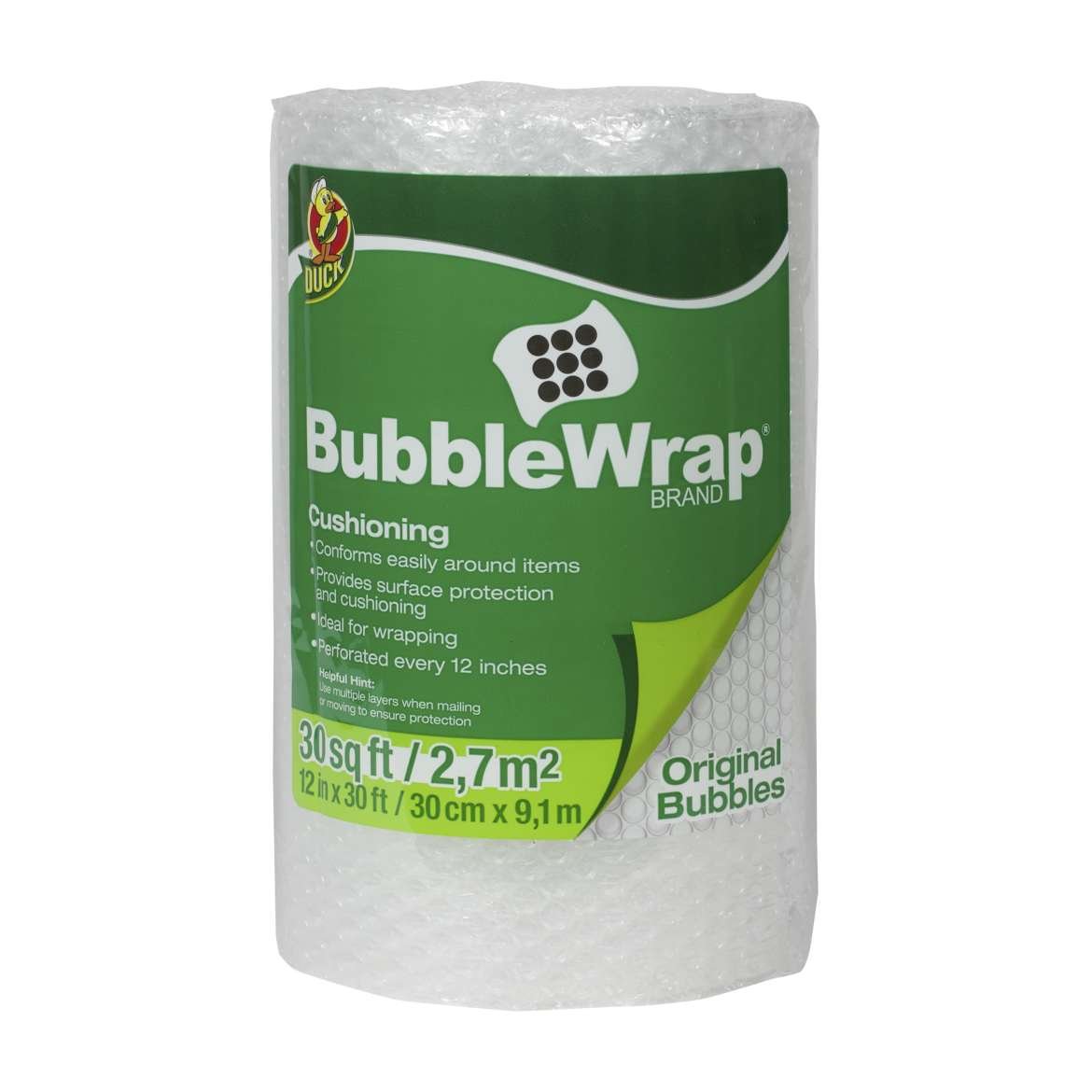 Duck Brand Original Bubble Wrap�� Cushioning - Clear, 12 in. x 30 ft.