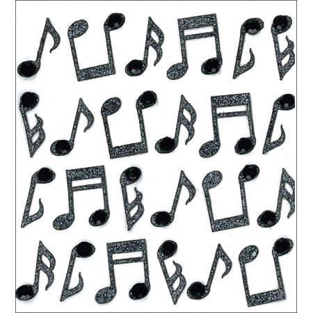 Dimensional Stickers, Music Notes, Explore the hot trends of gems and glitter By Jolee's (Glitter Music Note)
