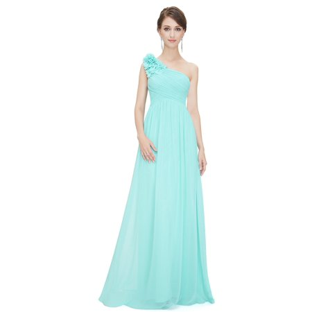 774819526f Ever-pretty - Ever-Pretty Women's Elegant Long Maxi One-Shoulder Summer  Chiffon Beach Wedding Guest Bridesmaid Dresses for Women 08237 (Aqua 4 US)  ...