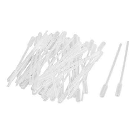 50 Pcs Clear White Plastic 4.5