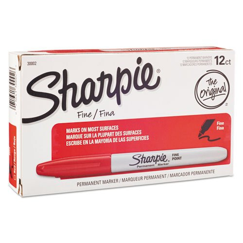 Buy Bulk: Fine Point, Sharpie Permanent Markers, Red (Case of 24 Dz.)