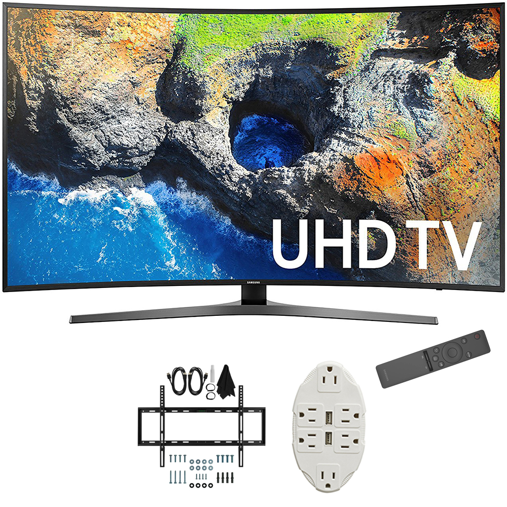 "Samsung 54.6"" Curved 4K Ultra HD Smart LED TV 2017 Model (UN55MU7500) with"