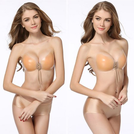 Comfortable Silicone Women Strapless Backless Invisible Bra For Wedding Dress