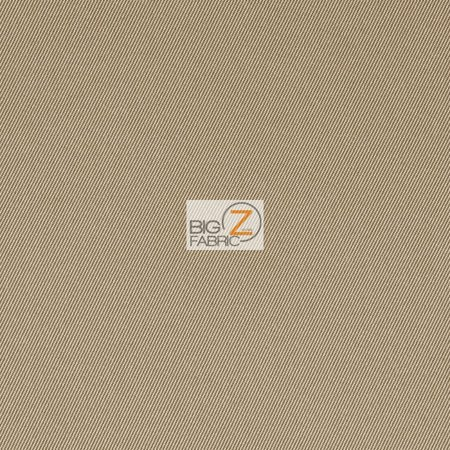 - Solid Reversible Formal Poly Cotton Twill Fabric / Khaki / Sold By The Yard
