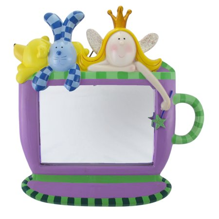 Purple and Green Princess and Friends Tea Cup Mirror