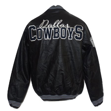 Dallas Cowboys Mens Jackets - Dallas Cowboys Mens Faux Leather Varsity Jacket