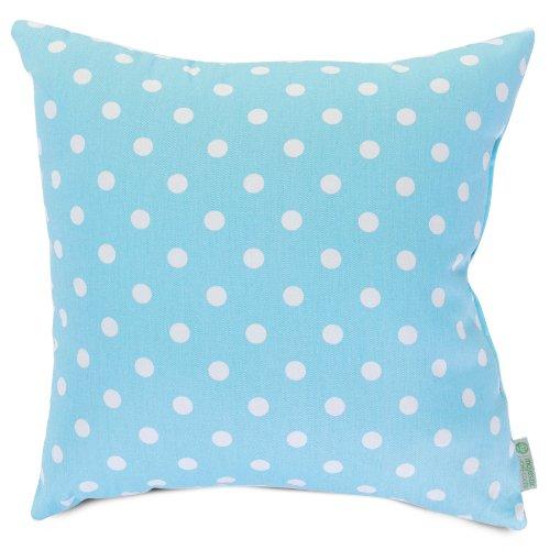 Majestic Home Goods Aquamarine Small Polka Dot Pillow, Large - image 1 of 1