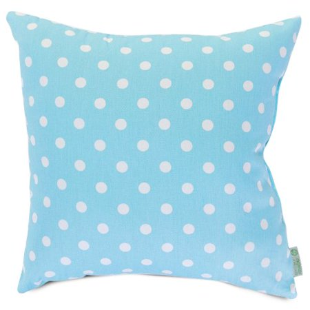 Majestic Home Goods Aquamarine Small Polka Dot Pillow, Large - image 1 de 1