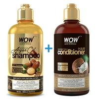 WOW Moroccan Argan Oil Shampoo & Coconut Milk Hair Conditioner Set